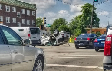 Car accident as a result of texting while driving